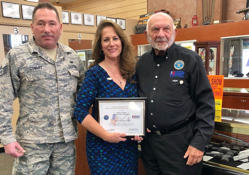 Office of the Secretary of Defense: Employer Support of the Guard and Reserve Recognizes Traders Loan and Jewelry as a Patriotic Employer
